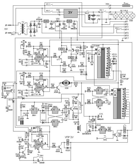 Принципиальная схема терморегулятора для инкубатора с безперебойным питанием