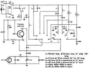 Тестер высокочастотного транзистора