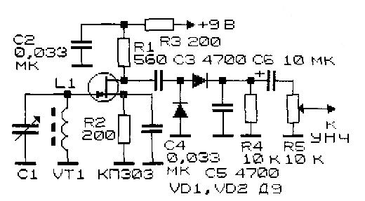 Схемы простейших радиоприемных устройств.