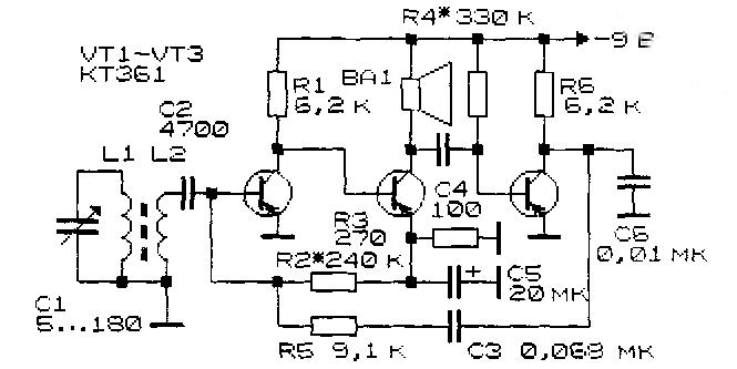 Простейшие радиоприемные устройства (Практические схемы) .